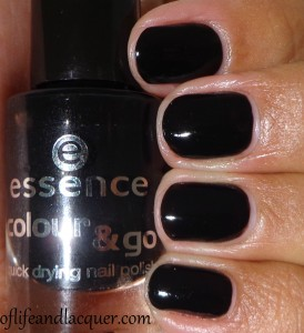 essence Black Is Black Swatch