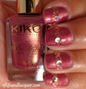 Kiko #397 Aureus Pomegranate with circle glitter