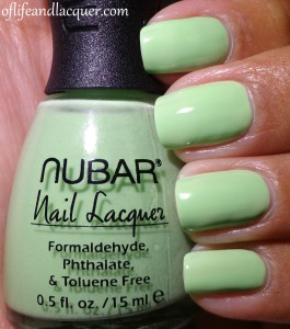 Nubar Jellybeans Collection Kiwi Swatch