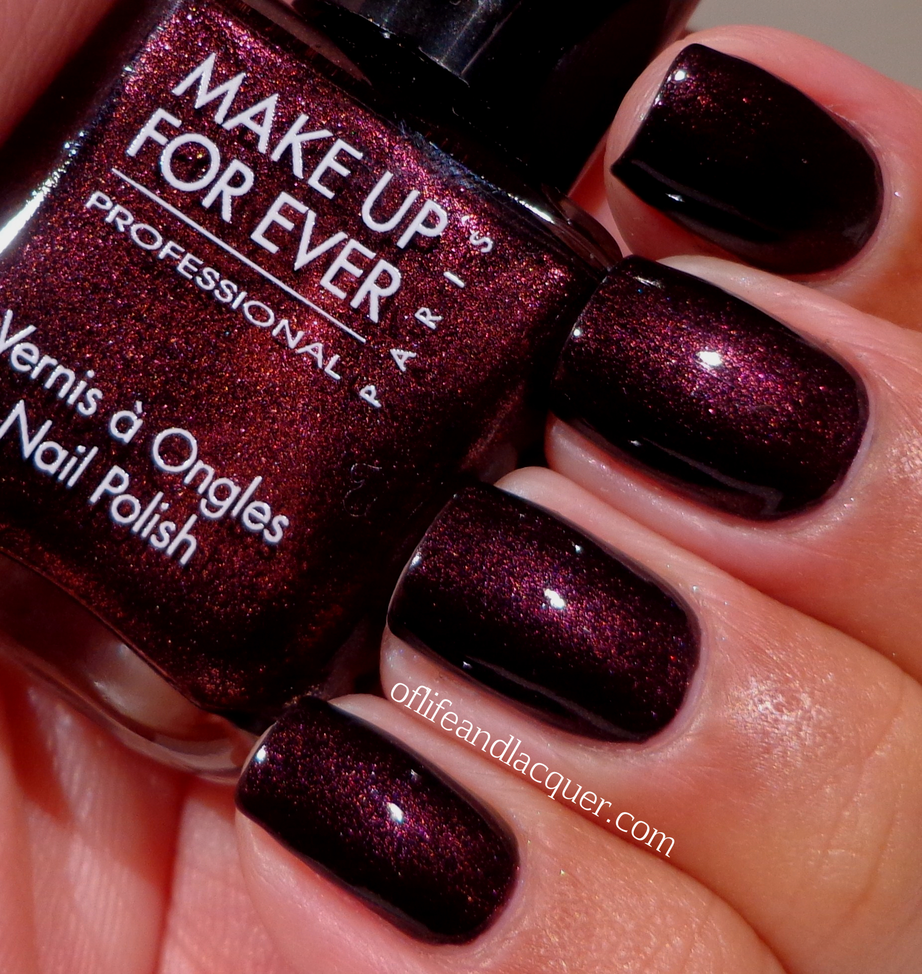 Dark Red Nail Polish: Birthday Polish: Make Up For Ever Black Tango Red Black