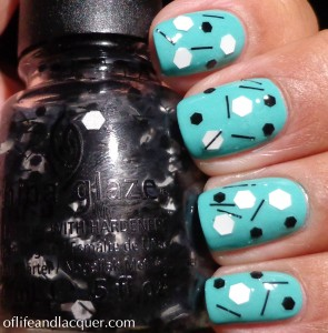 China Glaze Whirled Away Swatch Over China Glaze Aquadelic