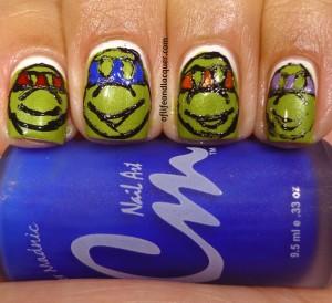 Teenage Mutant Ninja Turtle Nails
