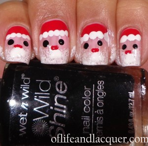 Finished Santa Claus Nails