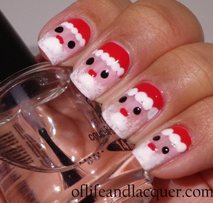 Wet N Wild Santa Claus Nails