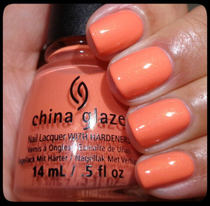 China Glaze Mimosas Before Manis Swatch