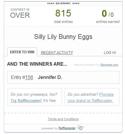 Bunny Eggs Winner