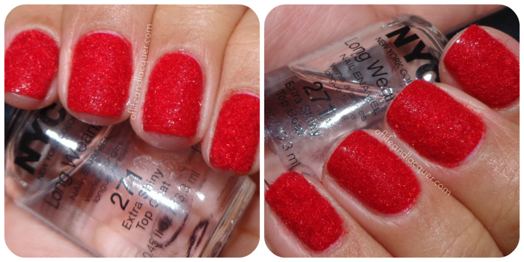 Velvet Mani Red Flocking Powder Born Pretty Store