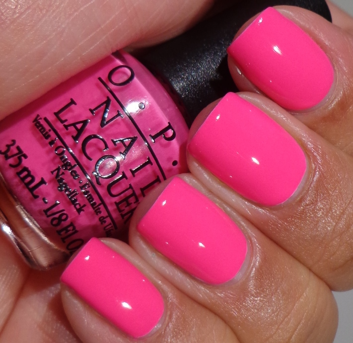 Bright Pink Nail Polish Colors: OPI Neon Revolution Minis