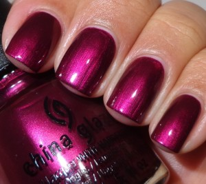 China Glaze Don't Make Me Wine 1