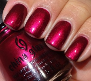 China Glaze Red-y & Willing 1