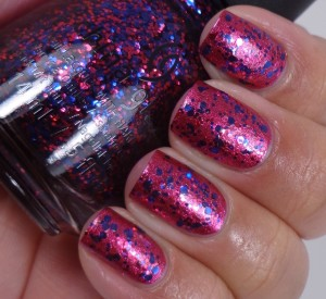 China Glaze Be Merry, Be Bright over Santa Red My List 2