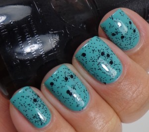 Nubar  Black Polka Dot over Morgan Taylor Lost In Paradise 2