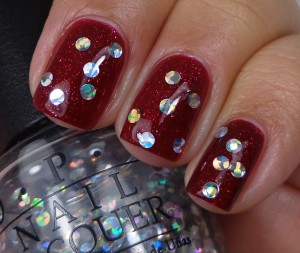 OPI I Snow You Love Me over Underneath The Mistletoe 1