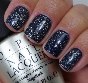 OPI Mariah Carey 18K White Gold & Silver Leaf Top Coat 2