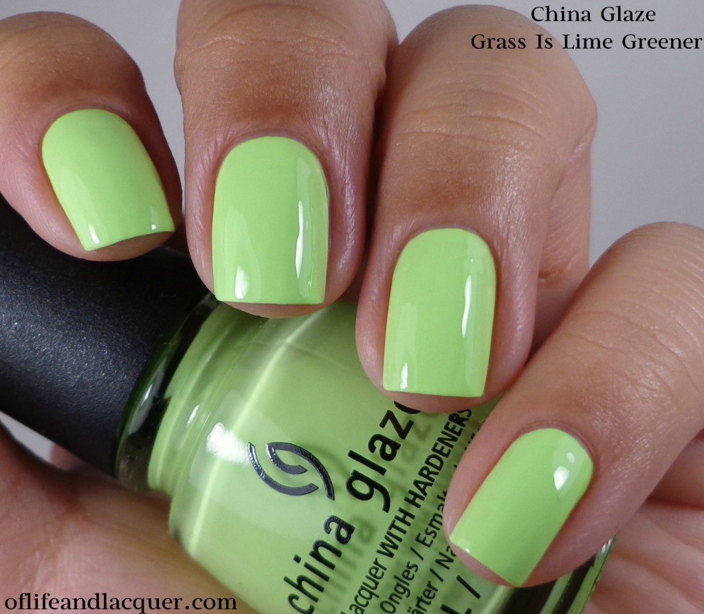China Glaze Grass Is Lime Greener 1a