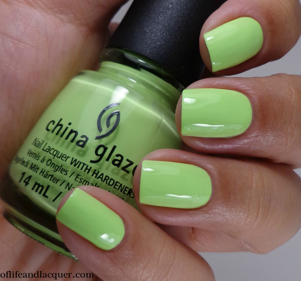 China Glaze Grass Is Lime Greener 2a