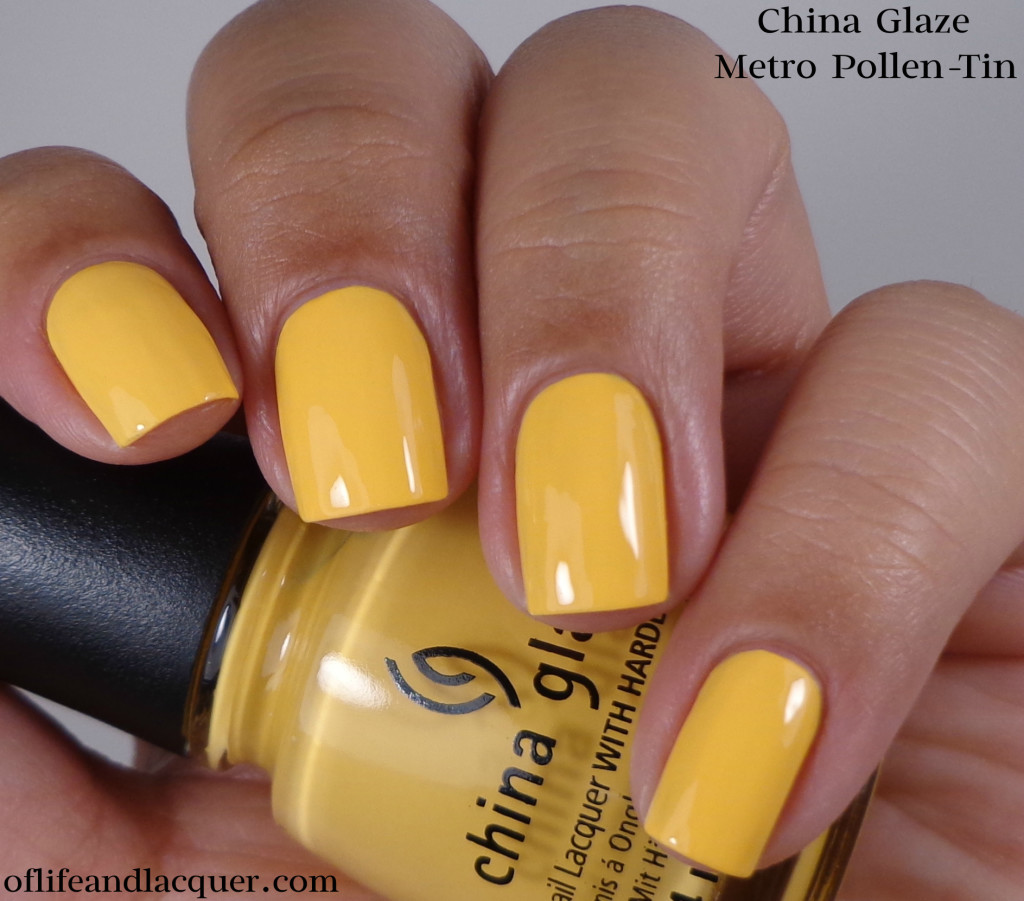 China Glaze Metro Pollen-Tin 1a