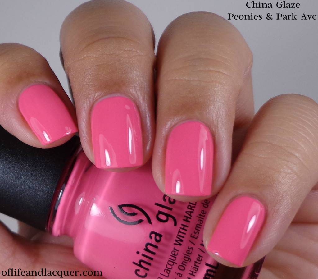 China Glaze Peonies & Park Ave 1a