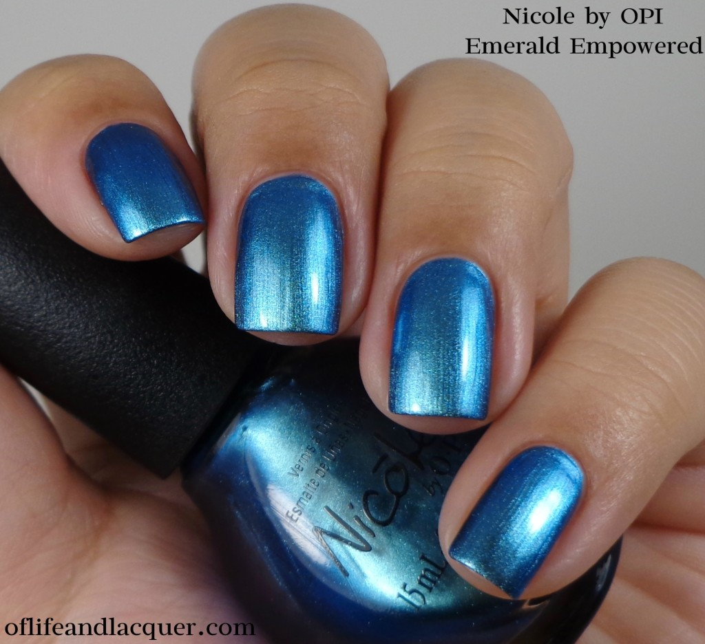 Nicole by OPI Emerald Empowered 1a