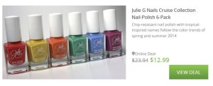 Deal Alert! Julie G Nails Cruise Collection