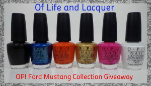 OPI Ford Mustang Collection Giveaway