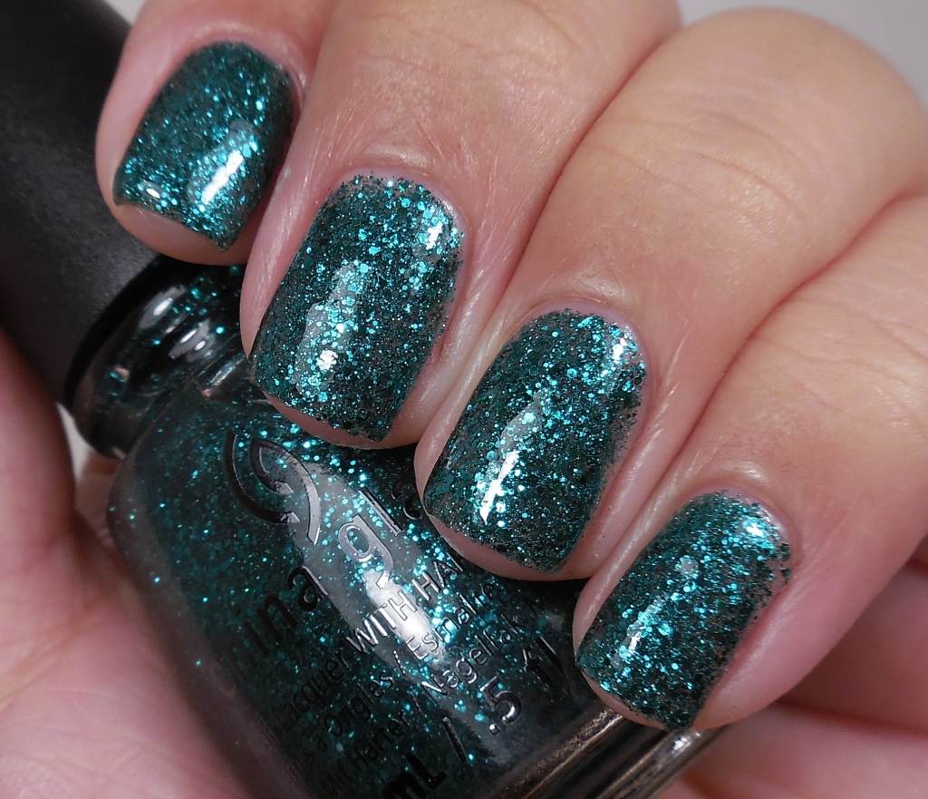 China Glaze Pine-ing for Glitter 1
