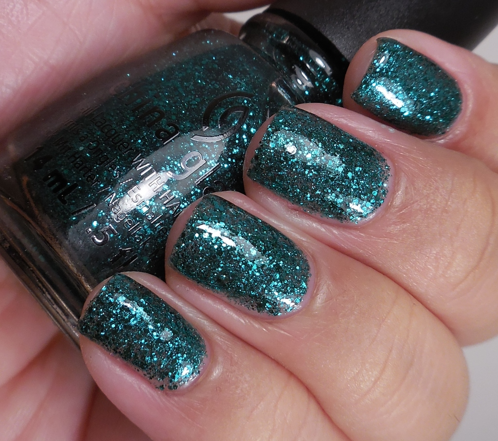China Glaze Pine-ing for Glitter 2