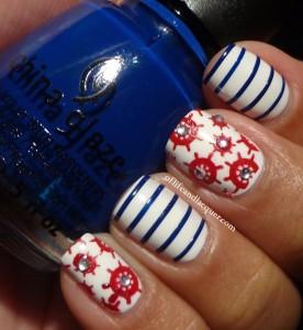 Nautical Inspired Nails