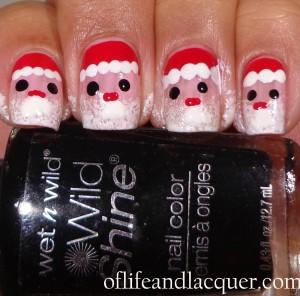 Finished Santa Claus Nails