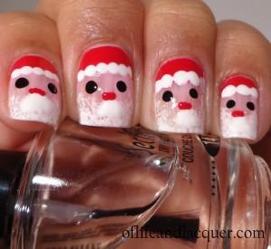 Wet N Wild Santa Claus Nails