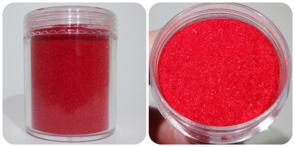 Born Pretty Store Red Flocking Powder