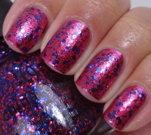 China Glaze Be Merry, Be Bright over Santa Red My List 1