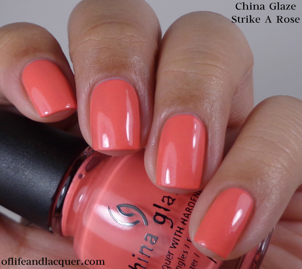 China Glaze Strike A Rose 1a