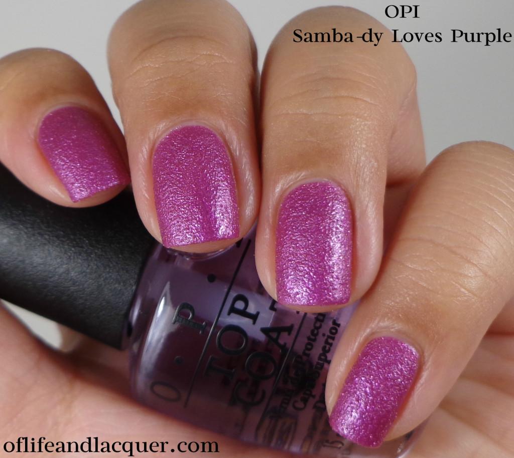 OPI Samba-dy Loves Purple 1a
