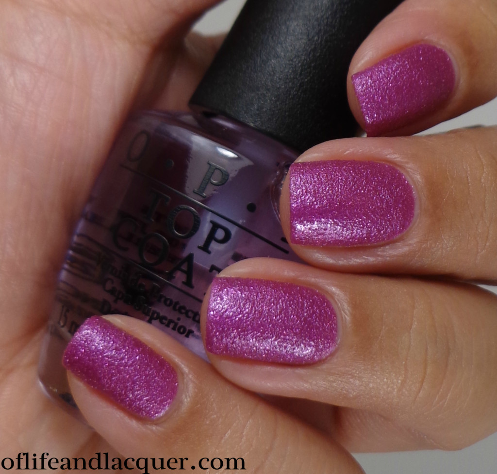 OPI Samba-dy Loves Purple 2a