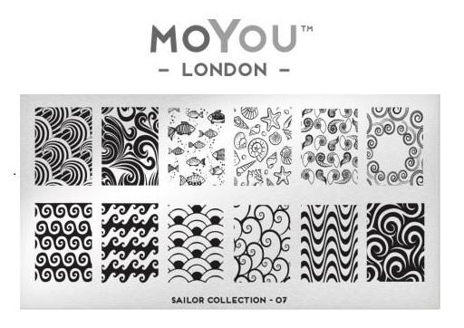 MoYou London Sailor Collection Plate 07