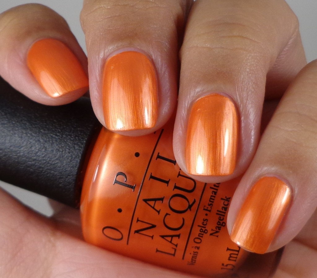 OPI Orange You Going To The Game 1