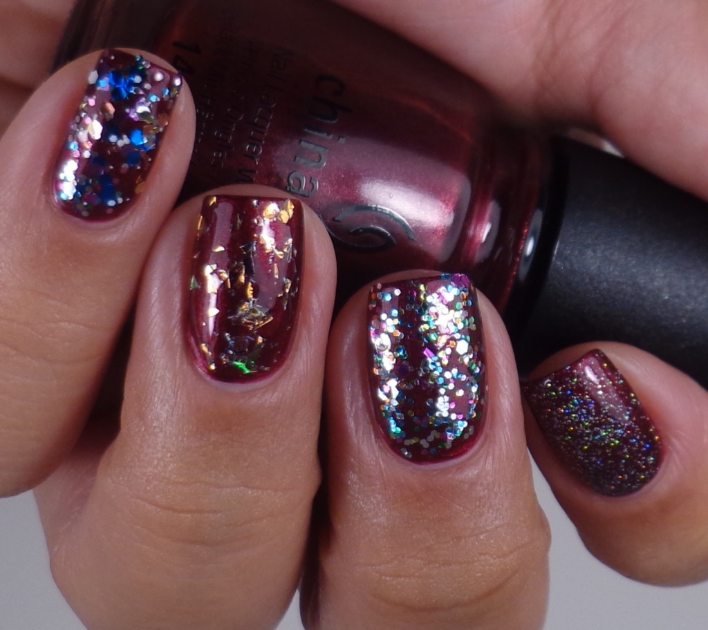 China Glaze Fairy Dust, Pizzazz, Luxe & Lush, Your Present Required 3